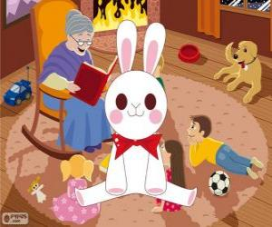 Puzle Bílý králík z pohádky
