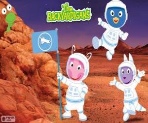Puzle Backyardigans Astronauti dorazili na Mars