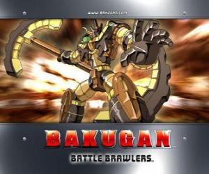 Puzle Bakugan Subterra Gorem je strážcem Julie