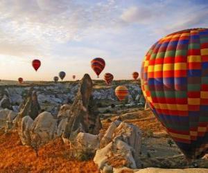 Puzle Balón v krajině