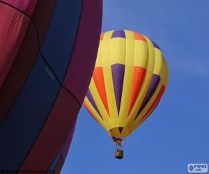 Puzle Balónu horký vzduch žlutá