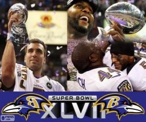 Puzle Baltimore Ravens Super Bowl Mistrů 2013