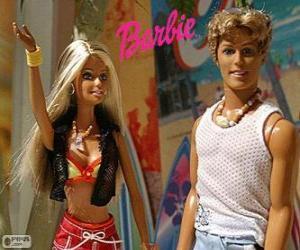 Puzle Barbie a Ken v létě