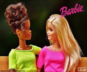 Puzle Barbie hovořit se svým přítelem