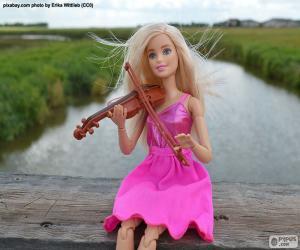 Puzle Barbie hry na housle
