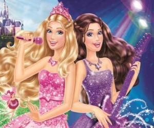 Puzle Barbie: Princezna a The Popstar