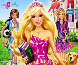 Puzle Barbie Princezna ve škole
