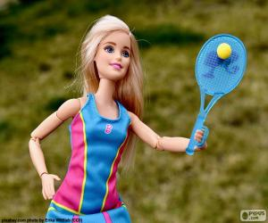 Puzle Barbie s tenisem