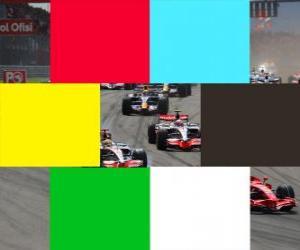 Puzle Barvy vlajek F1