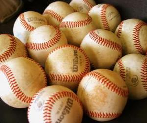 Puzle Baseballové míčky