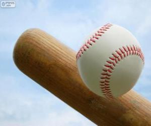 Puzle Baseballovou pálku a míč