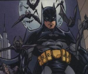 Puzle Batman se svými přáteli, netopýři