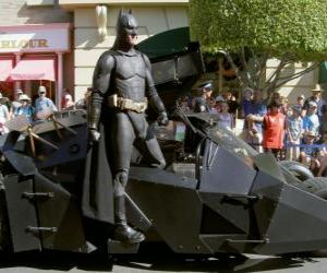Puzle Batman v jeho Batmobile