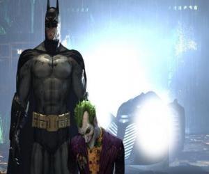 Puzle Batman zatčen nepřítele Joker