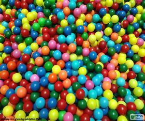 Puzle Bazén barevných kuliček