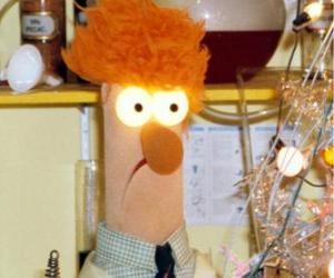 Puzle Beaker dělat experiment v laboratoři Muppets