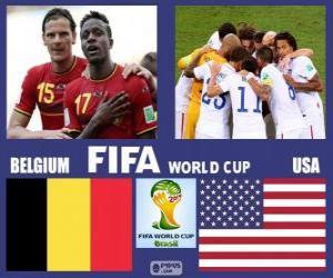 Puzle Belgie - Spojené státy, osmé finále, Brazílie 2014