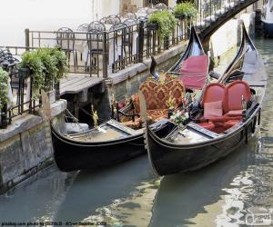 Puzle Benátky gondoly