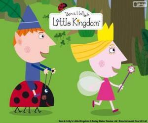 Puzle Ben, Holly a Gaston, tři kamarádi v malého království