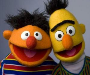 Puzle Bert a Ernie, dva velcí přátelé
