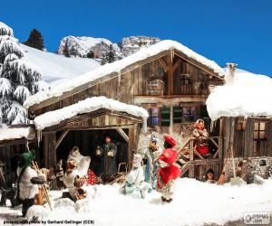 Puzle Betlém se sněhem