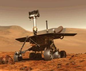 Puzle Bezpilotní kosmické lodi výzkumu na měsíčním povrchu