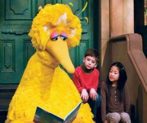 Puzle Big Bird čtení pohádky