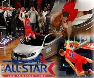 Puzle Blake Griffin je nového krále v roce 2011 NBA Slam Dunk