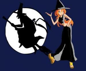 Puzle Bloom se kostým čarodějnice