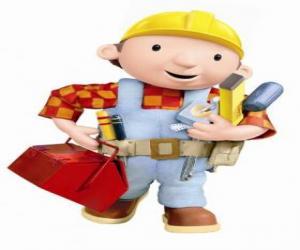 Puzle Bob the Builder s jeho nástroje