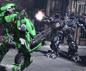 Puzle Boj mezi dvěma Transformers