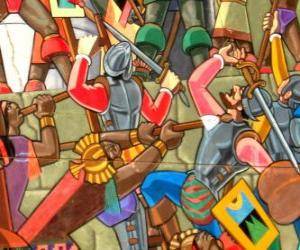 Puzle Bojovníci bojování Inca