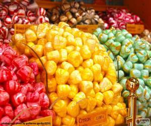 Puzle Bonbóny a jeho barvy