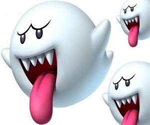 Puzle Boo od Super Mario Bros hry. Boos jsou spektrální stvoření s ostrými zuby a dlouhé jazyky