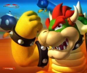 Puzle Bowser nebo King Koopa, hlavní nepřítel ve hře Mario