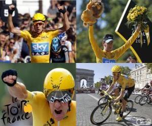 Puzle Bradley Wiggins vítěz Tour de France 2012
