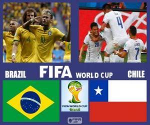 Puzle Brazílie - Chile, osmé finále, Brazílie 2014