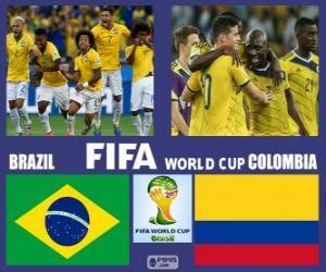 Puzle Brazílie - Kolumbie, čtvrtfinále, Brazílie 2014