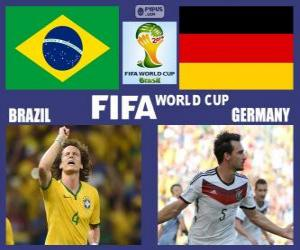 Puzle Brazílie - Německo, semi-finále, Brazílie 2014