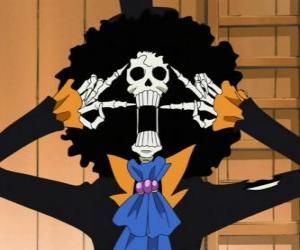 Puzle Brook, hudebník kostra z One Piece