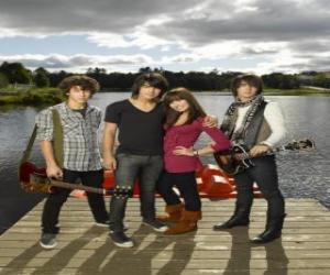 Puzle Brothers Grey (Jonas Brothers) y Mitchie Torres (Demi Lovato)