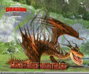 Puzle Brovská Noční Můra, divoký a nejvíce obávali drak