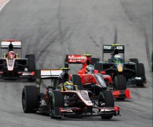 Puzle Bruno Senna - HRT - Sepang 2010