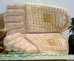 Puzle Buddha nohy