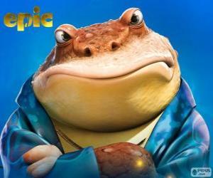 Puzle Bufo, žába, který je obchodní muž na světě, tajné