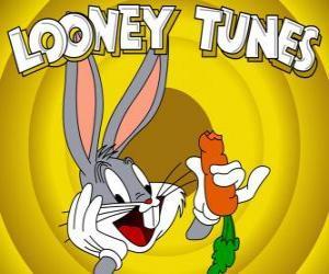 Puzle Bugs Bunny, králík hrdina dobrodružství Looney Tunes