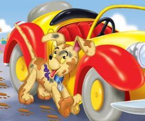Puzle Bumpy pes doprovází Noddy na jeho dobrodružství