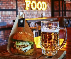 Puzle Burger a pivo