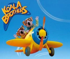 Puzle Buster a Frank pilotovat letadlo