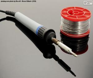 Puzle Cínové elektrické pájecí železo